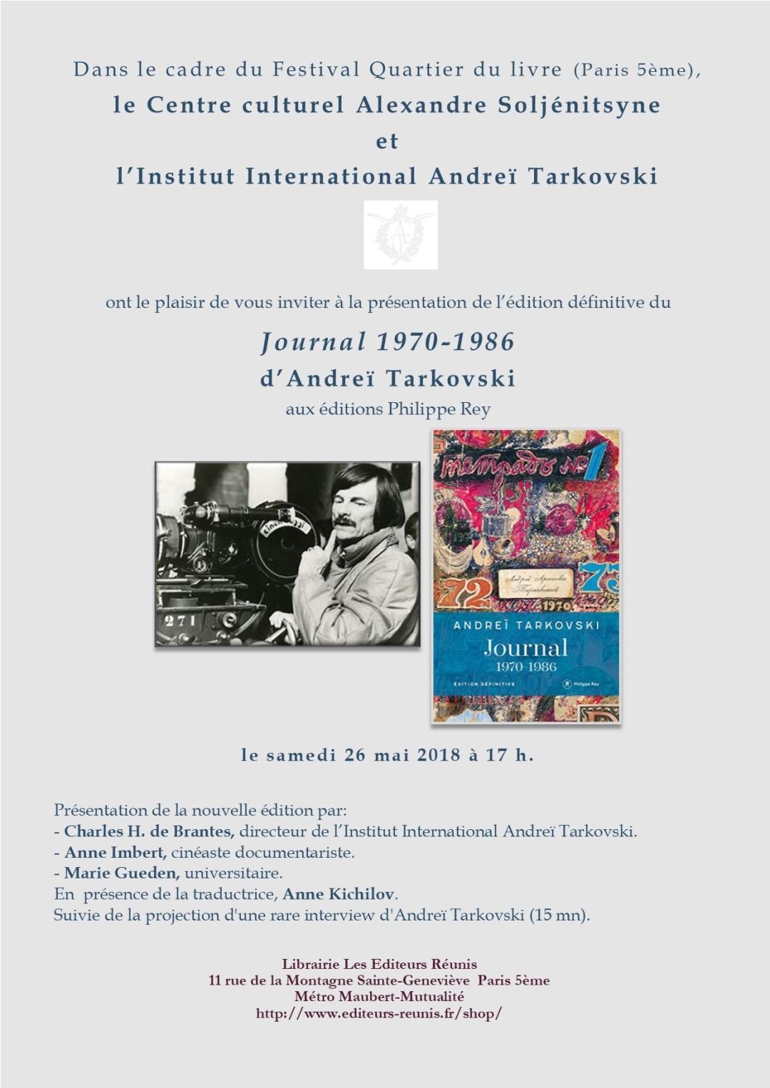 Présentation Tarkovsky